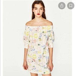 Zara || Off the shoulder dress